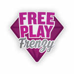Free Play Frenzy Logo with diamond background
