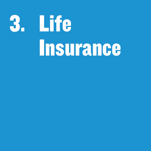"""Tile that says, """"Life Insurance"""""""