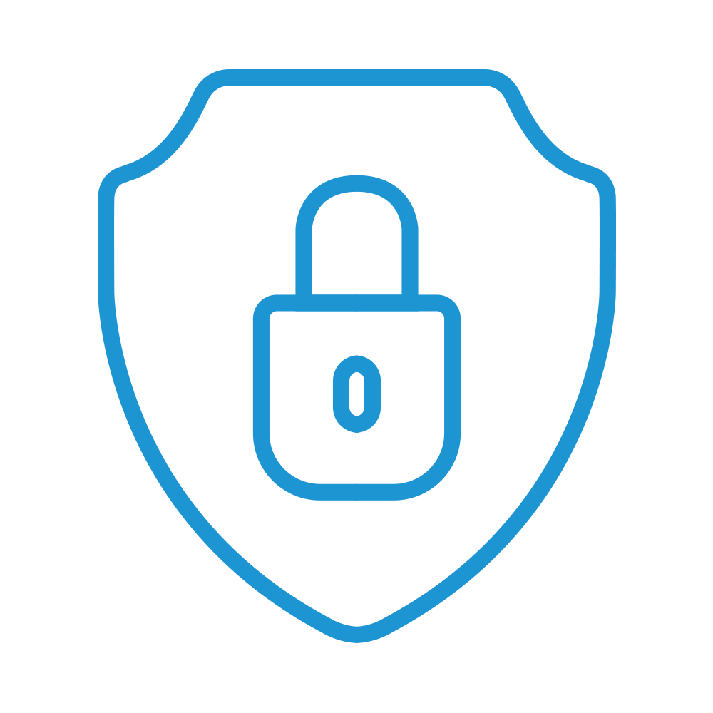 Security icon with lock and sheild