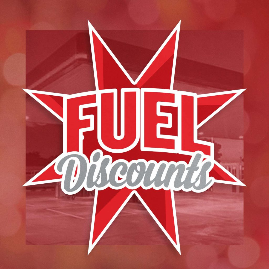 """Graphic that says """"Fuel Discount"""""""